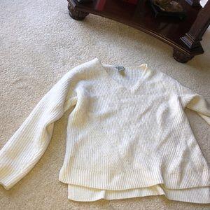 Creme sweater super cute and warm